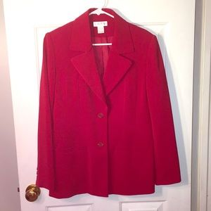 Worthington Red Blazer. Size 10. Excellent condit